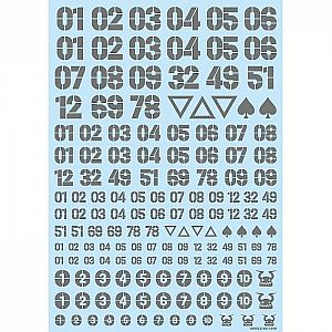 HiQParts DZ Number Decal Gray